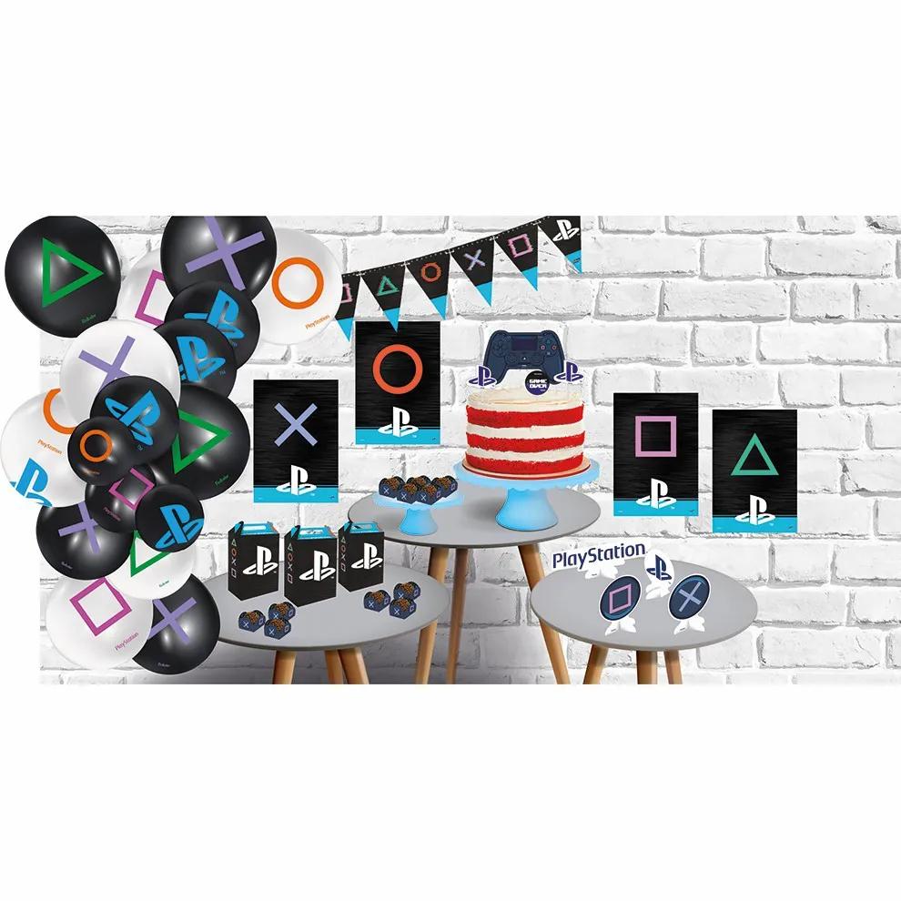 Kit Decorativo Só Um Bolinho Playstation - Festcolor