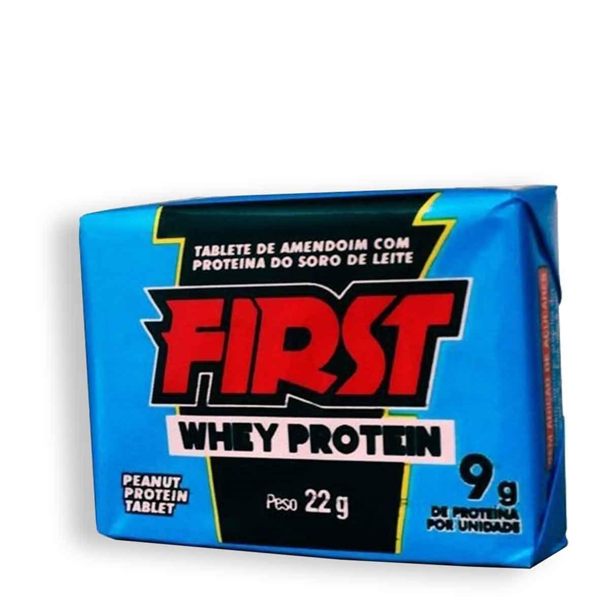 Paçoca First Whey Protein 22gr C/24un - Santa Helena