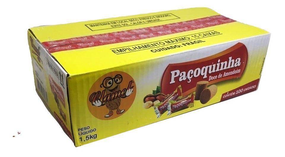 Paçoca Rolha Embalada C/100un Caixa - Clamel