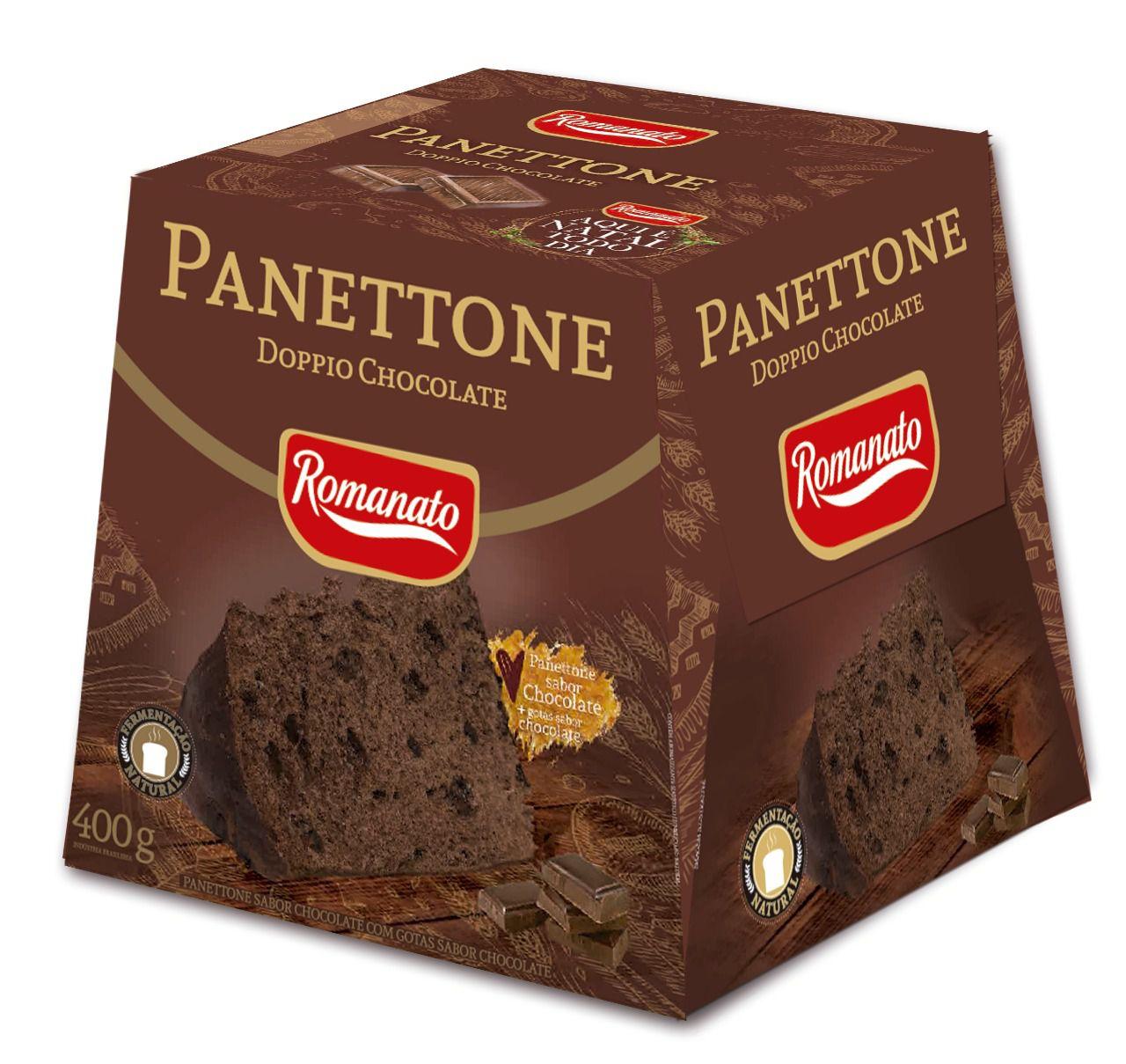Panettone De Chocolate Com Gosta Chocolate 400gr - Romanato