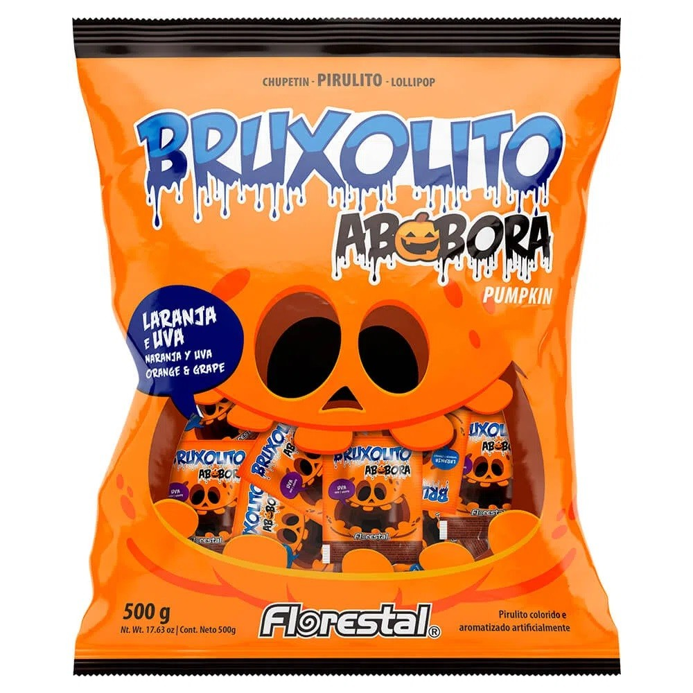 Pirulito Bruxolito Abóbora C/50un - Florestal