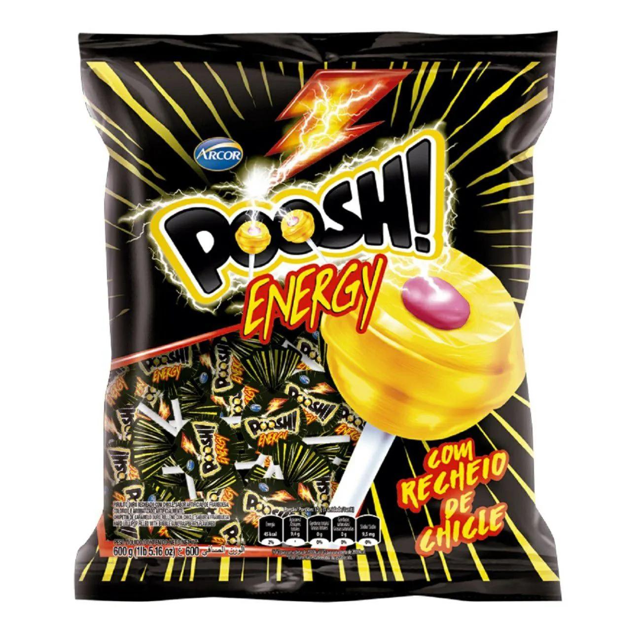 Pirulito Poosh Energy C/50un - Arcor