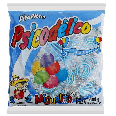 Pirulito Psicodélico Azul 600gr - Miguelito