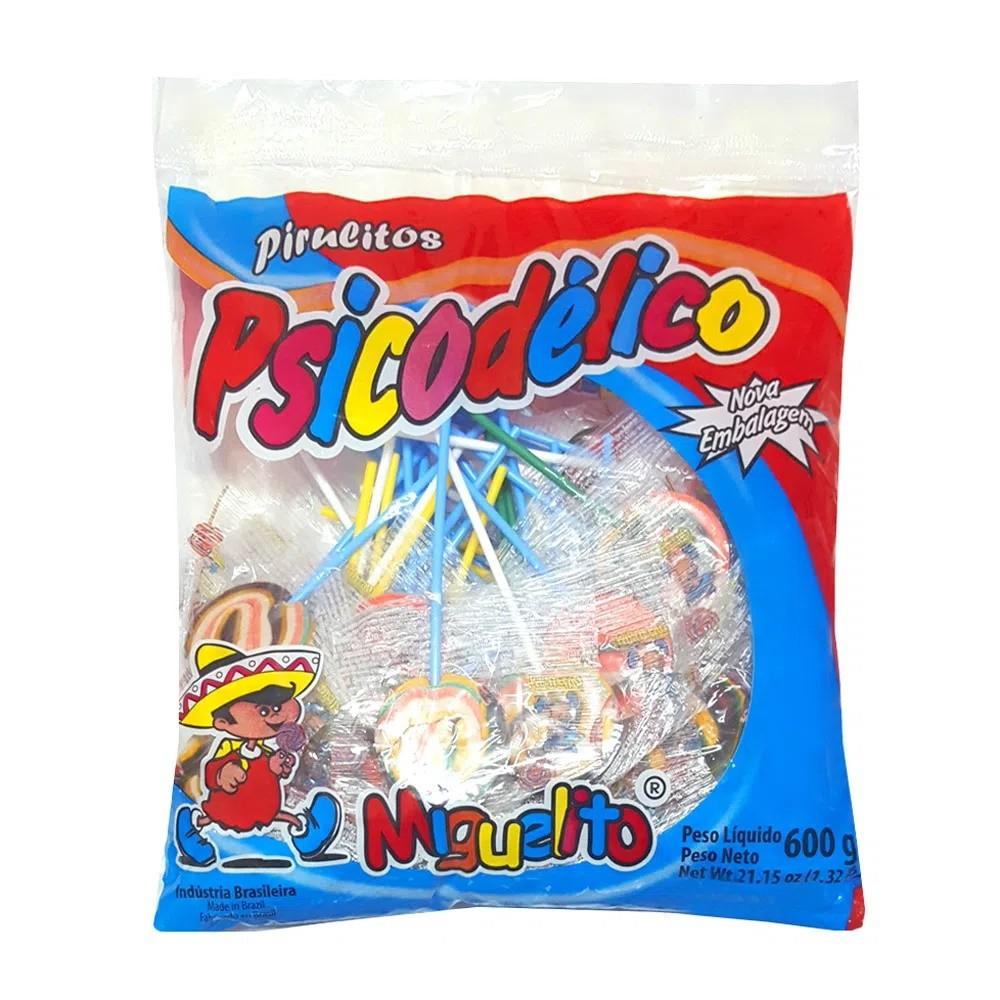 Pirulito Psicodélico Colorido 600gr - Miguelito