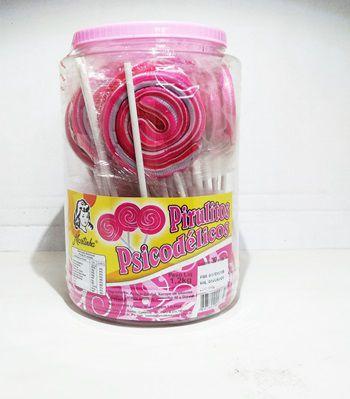 Pirulito Psicodélico Rosa C/30 1,2kg - Martinha