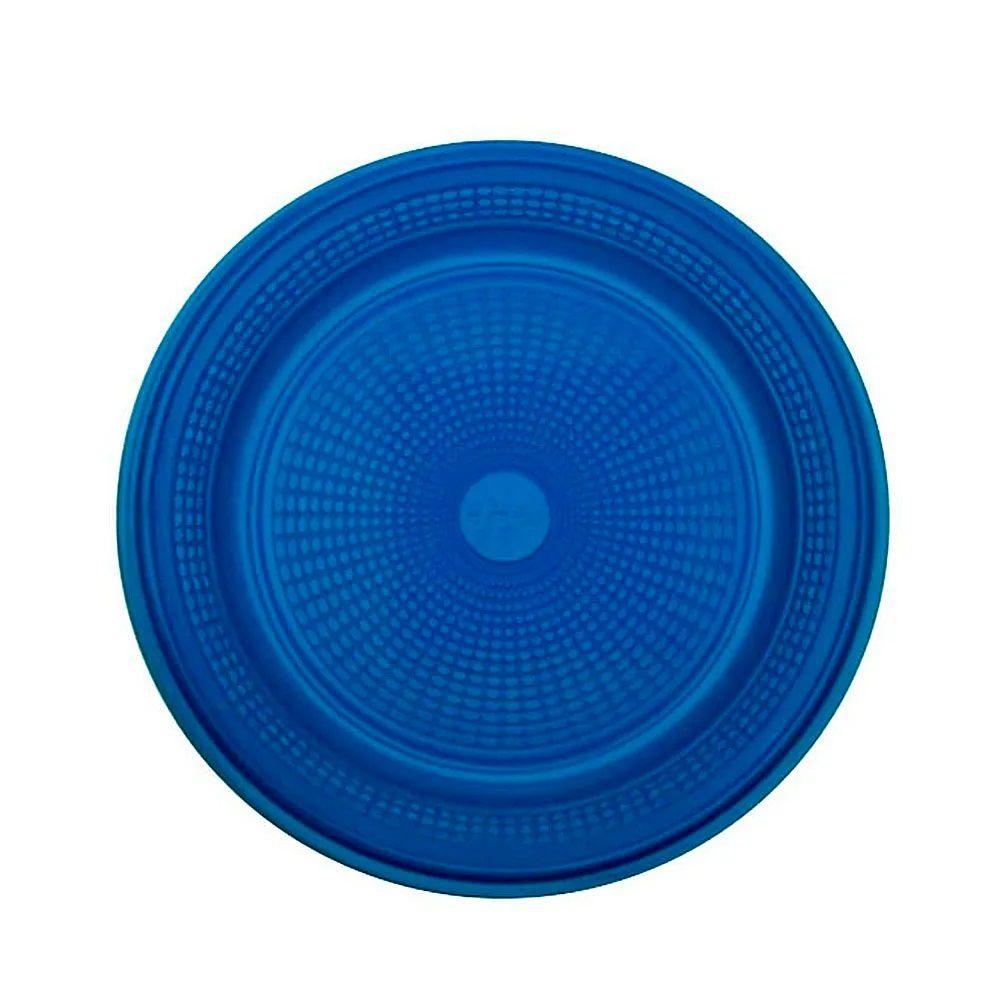 Prato Descartável para Bolo Azul 15cm c/10 - Trik Trik