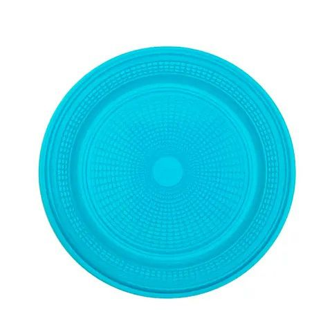 Prato Descartável para Bolo Azul Claro 15cm c/10 - Trik Trik