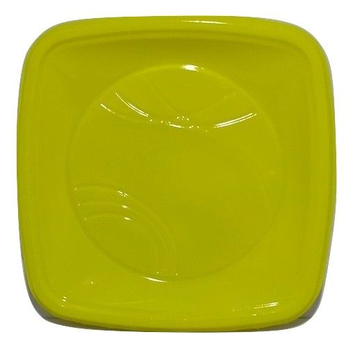 Prato Descartável Quadrado para Bolo Amarelo 15cm c/10 - Trik Trik