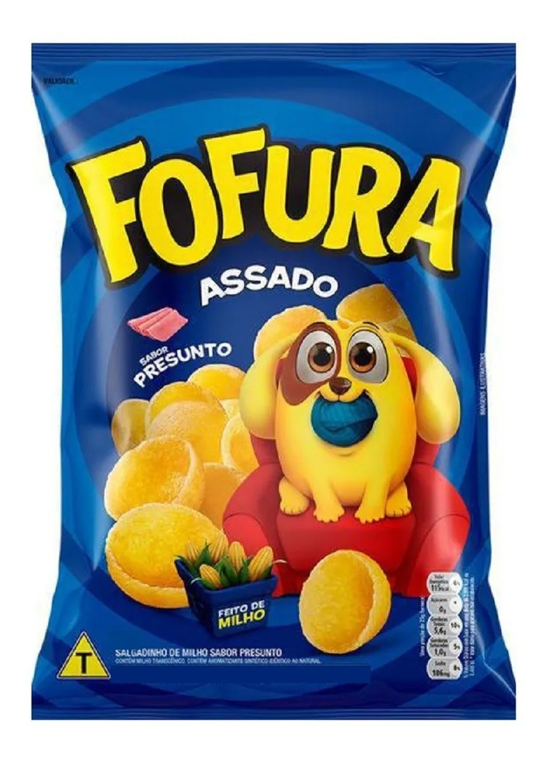 Salgadinho Fofura Presunto 90g - Lucky