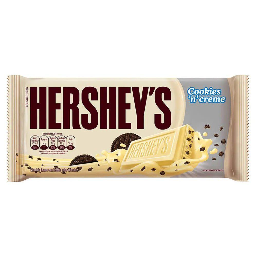 Tablete Chocolate Branco Cookies Creme 87g - Hersheys