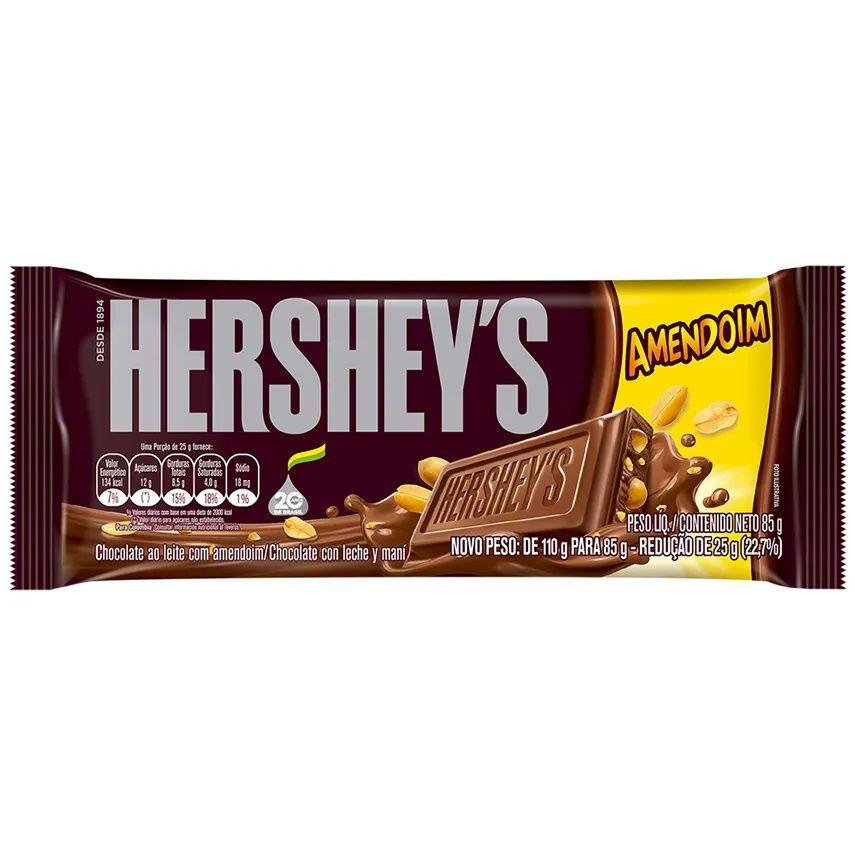 Tablete Chocolate Com Amendoim 92g - Hersheys