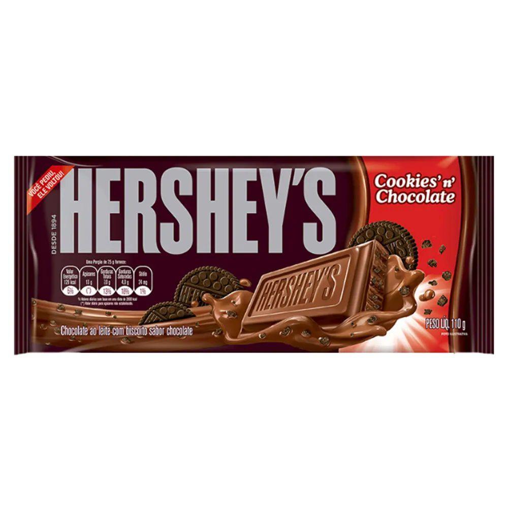 Tablete Chocolate Com Cookies 110g - Hersheys