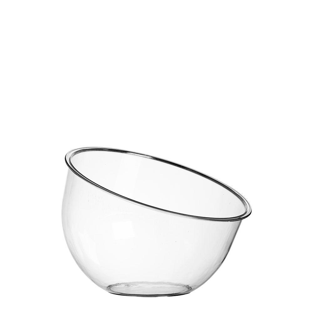 Taça Inclinada Grande Sem Pedestal Acrílico Cristal 2,4L - Três Triângulos
