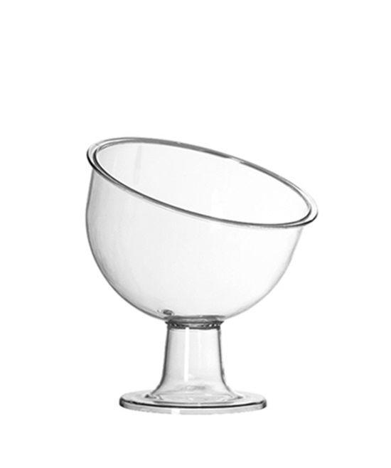 Taça Inclinada Pequena Acrílico Cristal 400ML - Três Triângulos