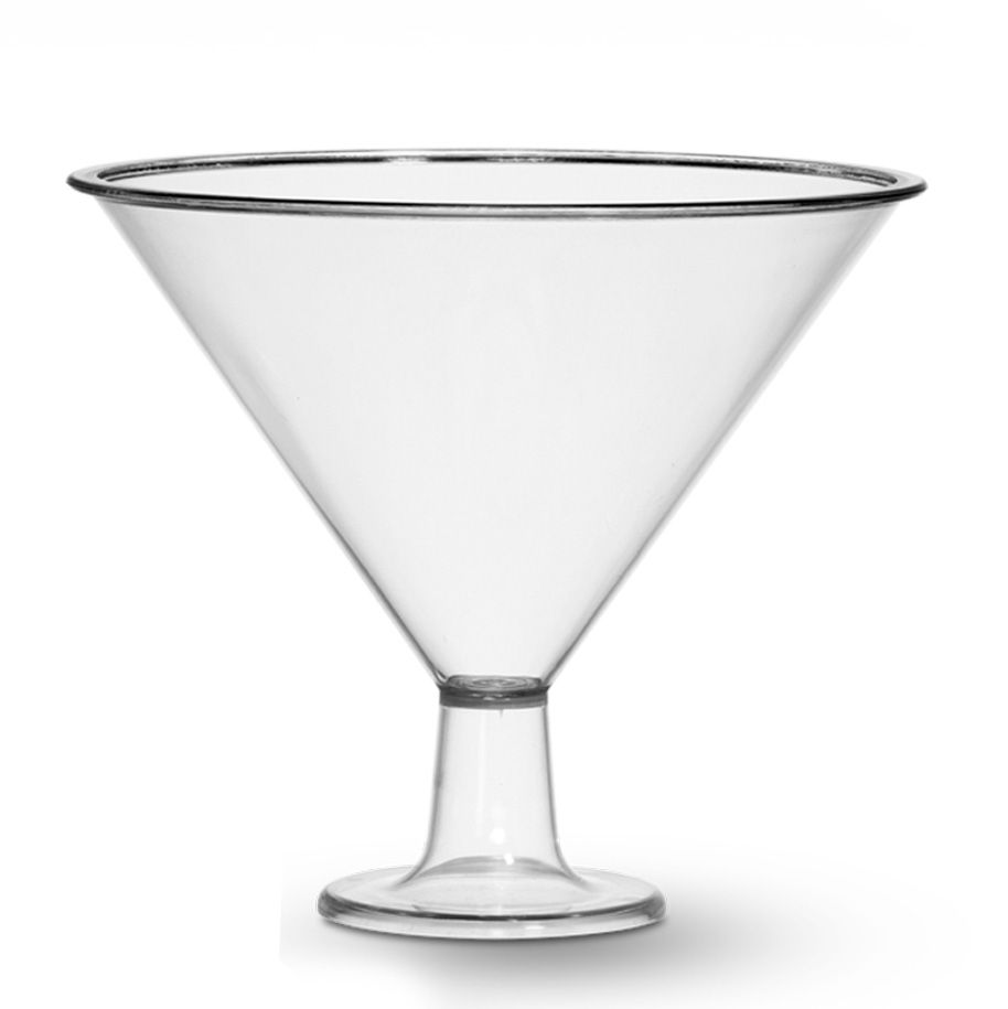 Taça Martine Pequena Acrílico Cristal 1,1L - Três Triângulos