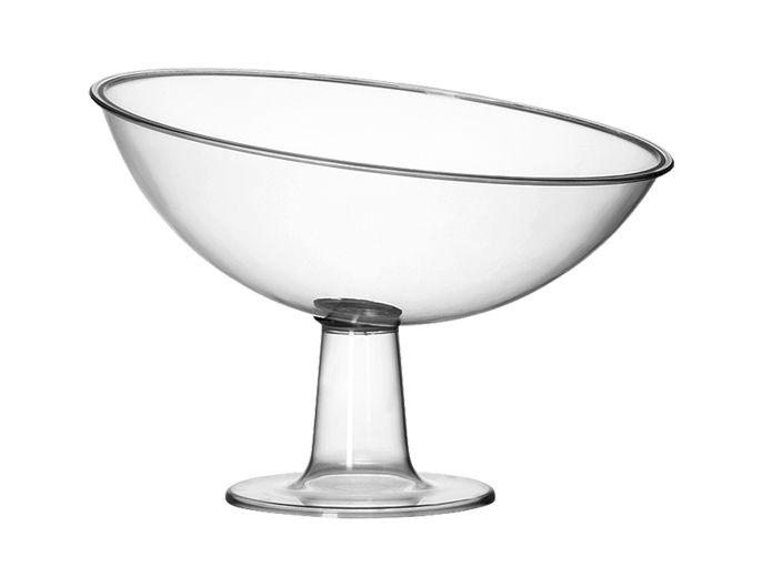 Taça Rasa Inclinada Acrílico Cristal 2,6L - Três Triângulos