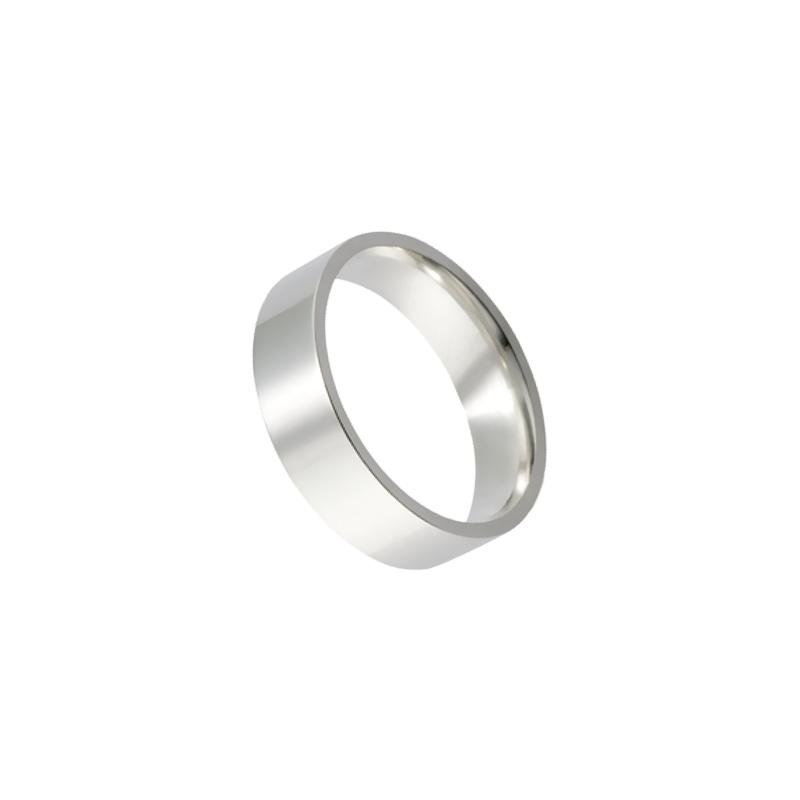 Par de Alianças de prata reta anatômica 5mm