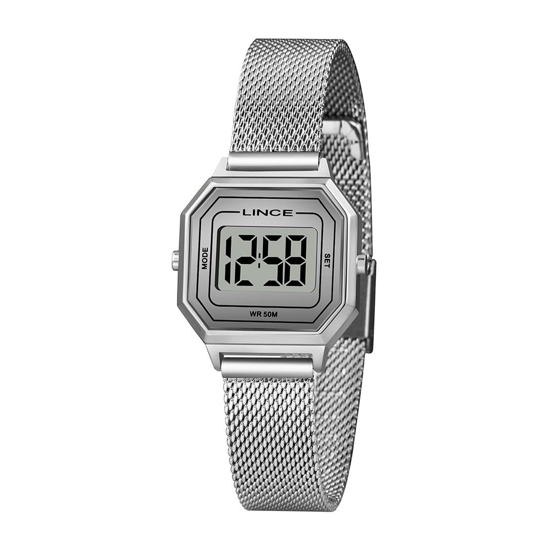 Relógio Lince Digital Prata