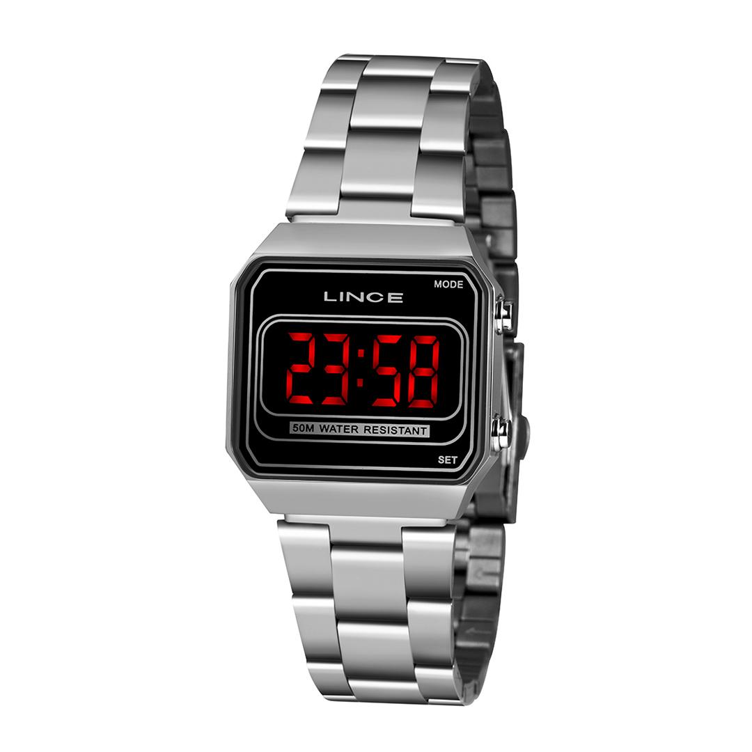 Relógio Lince Feminino Digital Prata