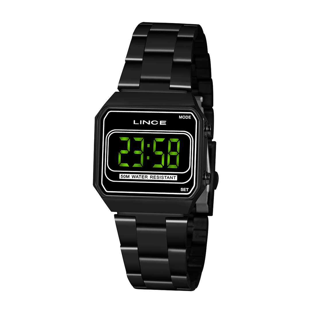 Relógio Lince Feminino Digital Preto