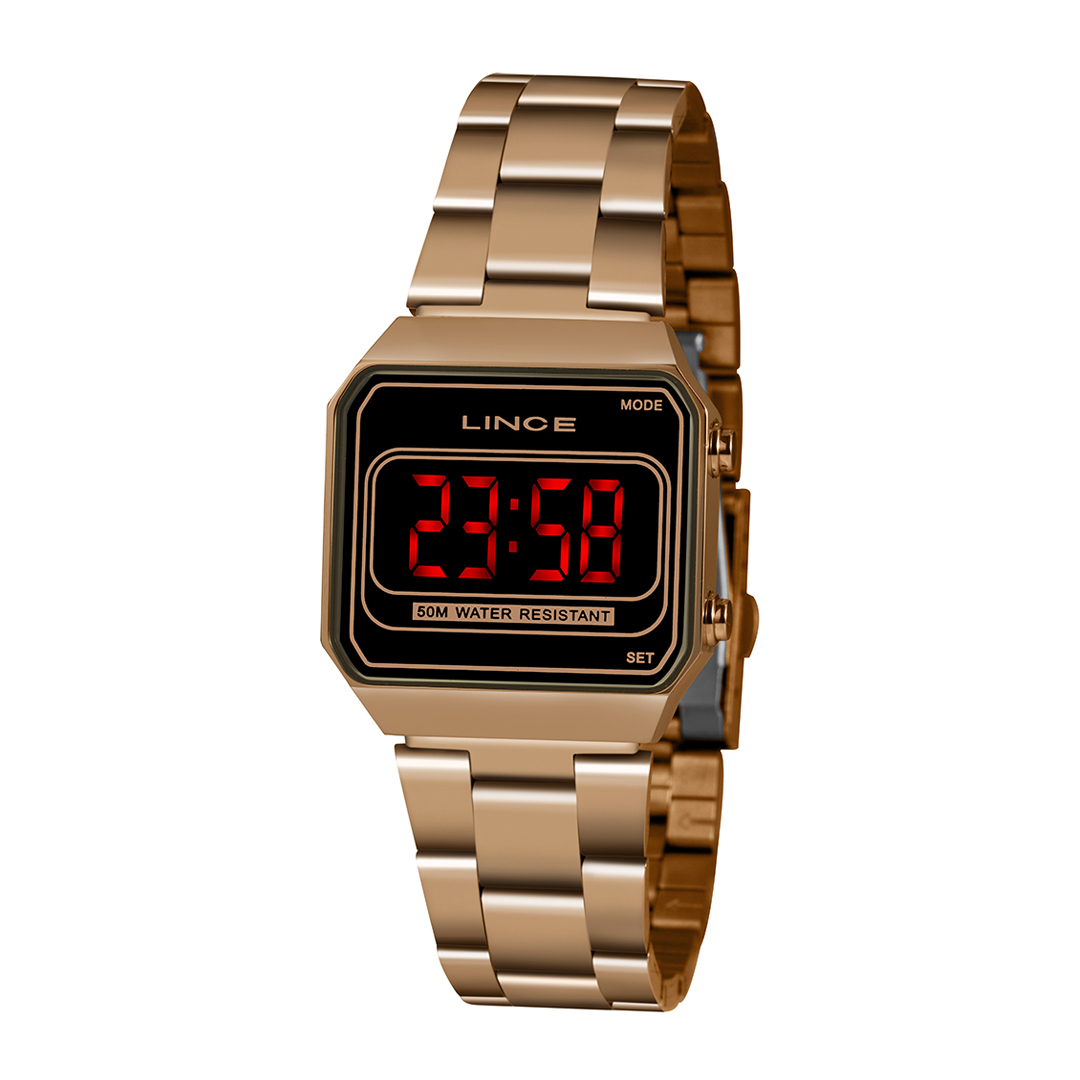 Relógio Lince Feminino Digital Rose Gold