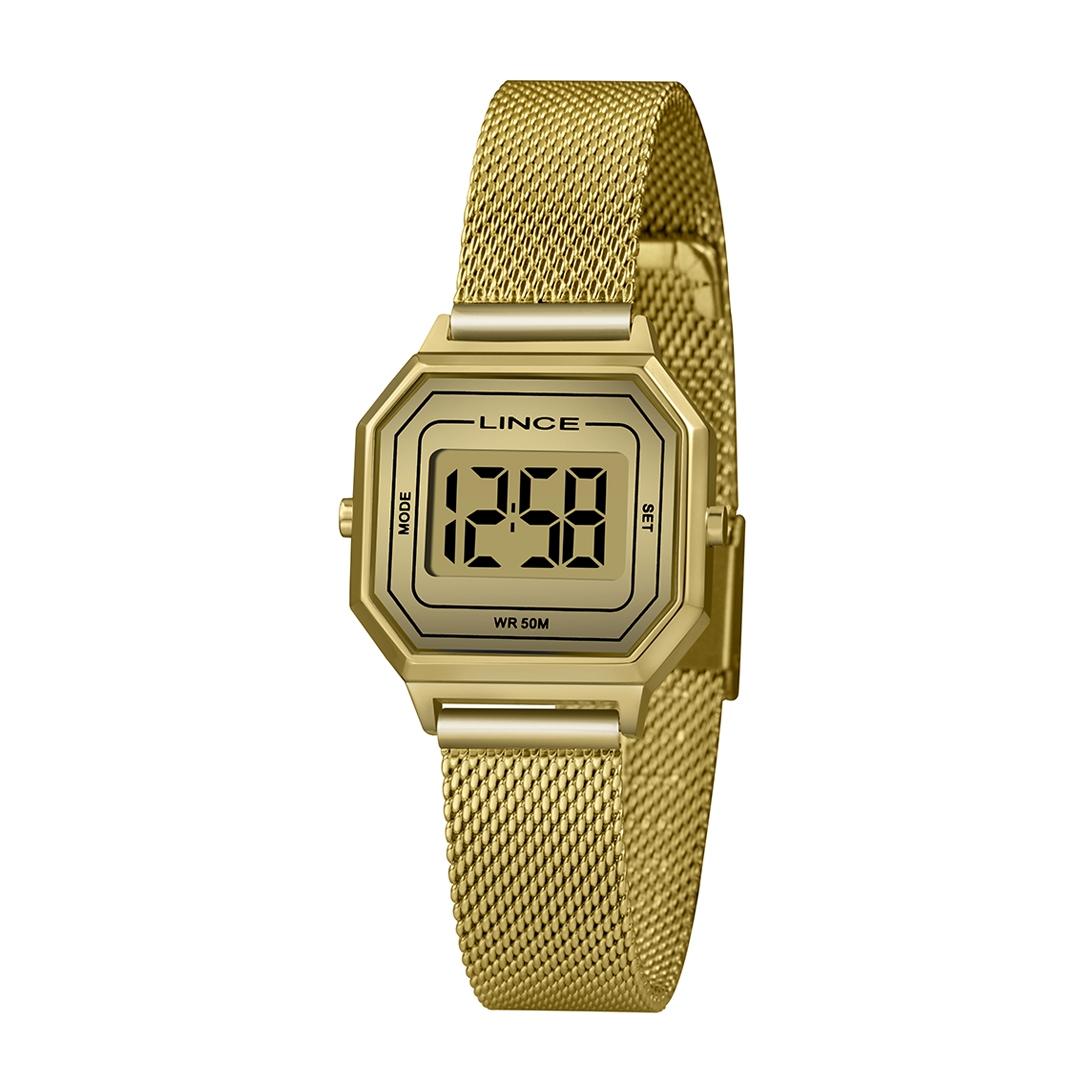 Relógio Lince Feminino Dourado Classic