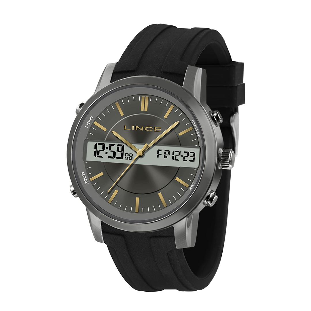 Relógio Lince Masculino Anadigi Preto MAY4492S