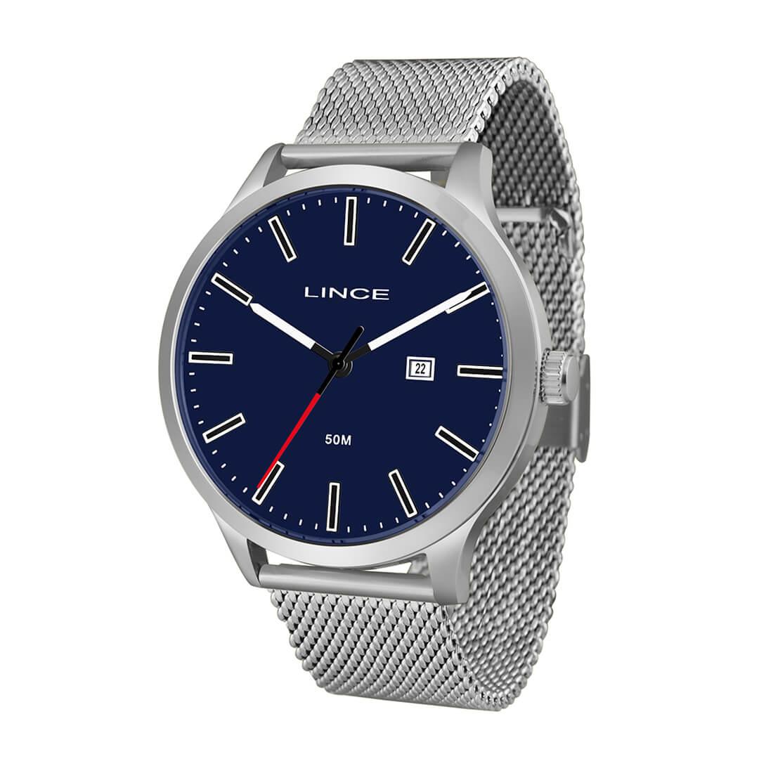 Relógio Lince Masculino Analógico Prata MRM4494S
