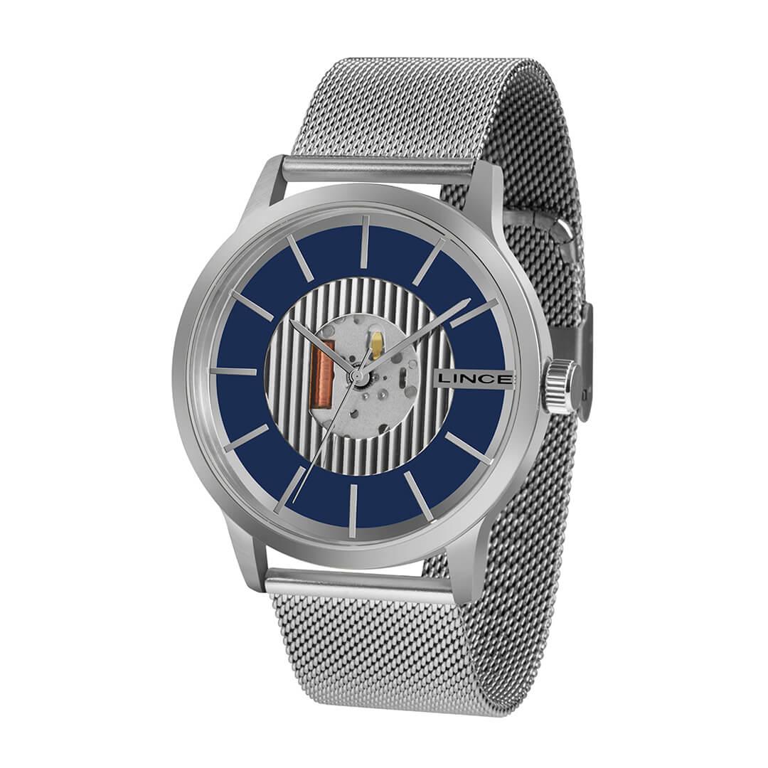 Relógio Lince Masculino Analógico Prata MRM4604S