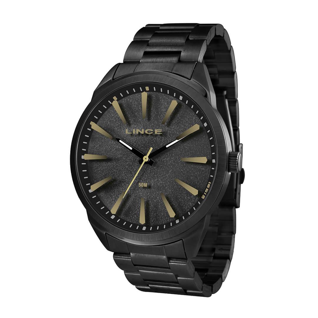 Relógio Lince Masculino Analógico Preto MRN4385S