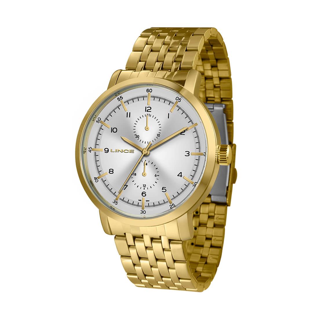 Relógio Lince Masculino Dourado MMG4535L