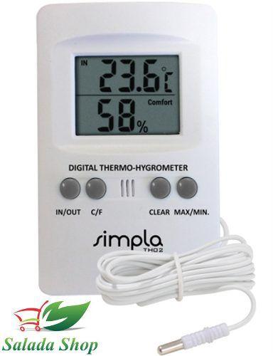 Termo higrômetro Th02 com sonda externa
