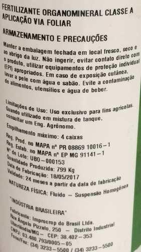 Fertilizante Organomineral Liqui-plex Bonder Alltech
