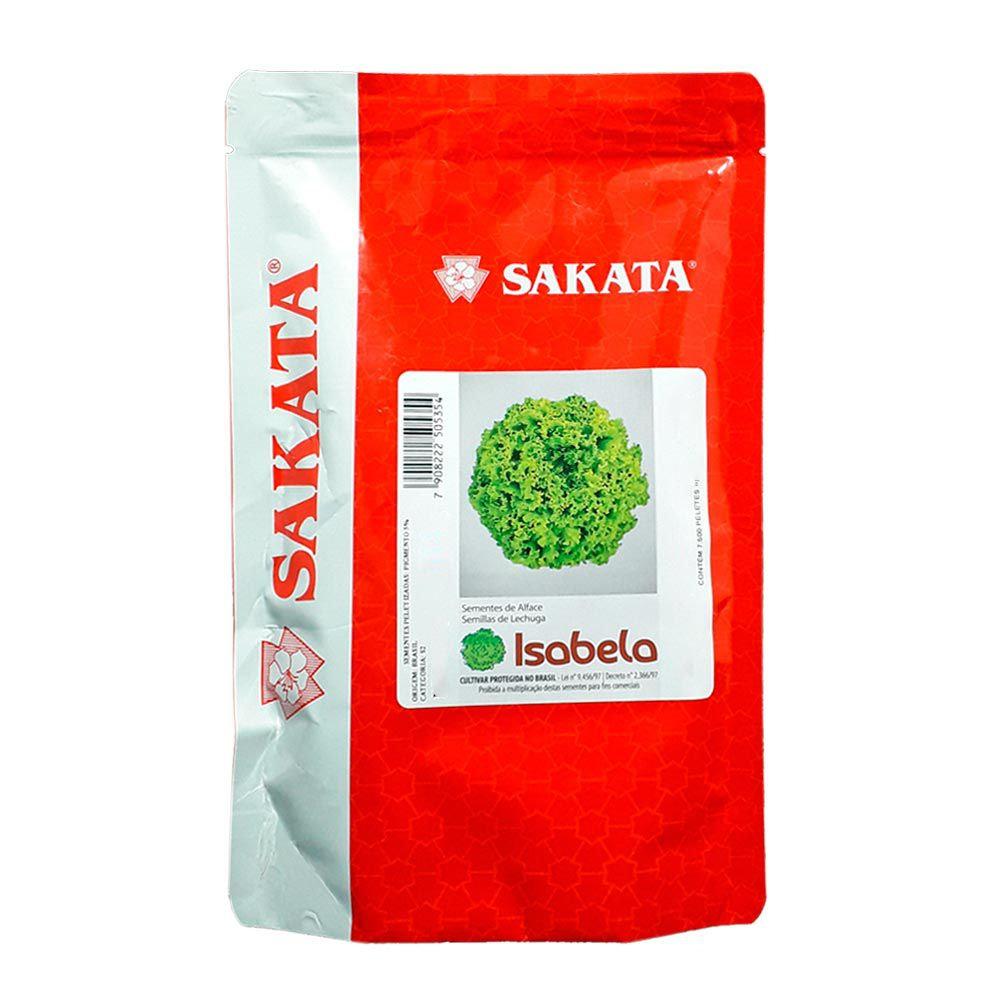 7.500 Sementes Alface Crespa Isabela Sakata