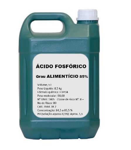 Ácido Fosfórico 85% - Grau Alimenticio 5 Litros
