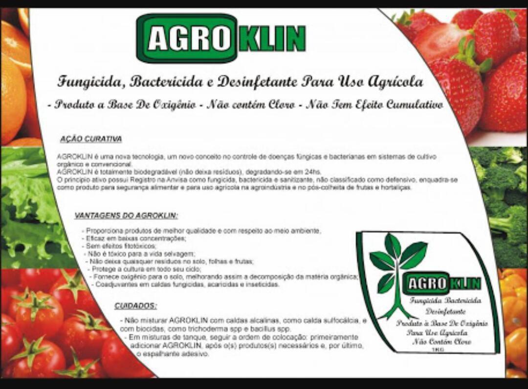 AGROKLIN FUNGICIDA E BACTERICIDA DE USO AGRÍCOLA - 1Kg