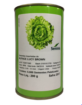ALFACE AMERICANA LUCY BROWN - SEMINIS 5.000 SEMENTES