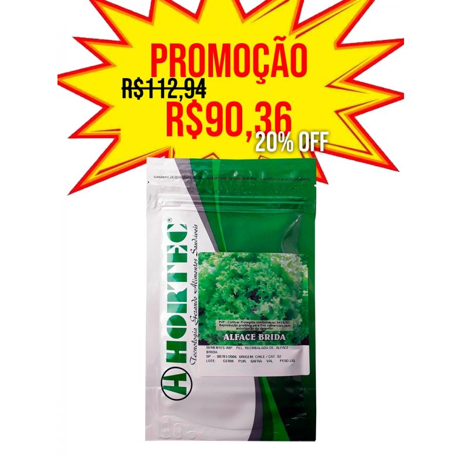 ALFACE CRESPA BRIDA HORTEC - 7.500 SEMENTES PELETIZADAS