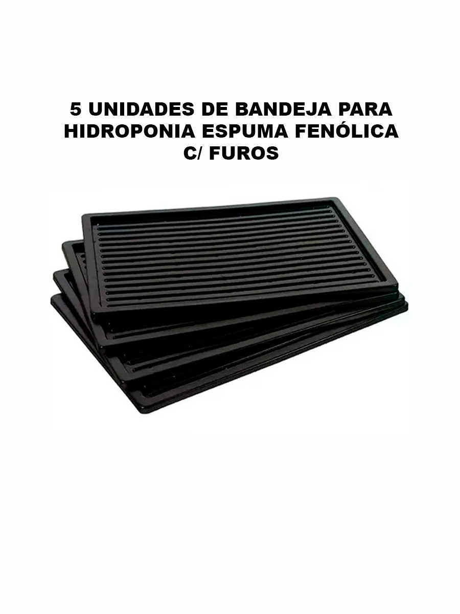 BANDEJA PARA HIDROPONIA ESPUMA FENÓLICA C/ FUROS - 5 UNIDADES