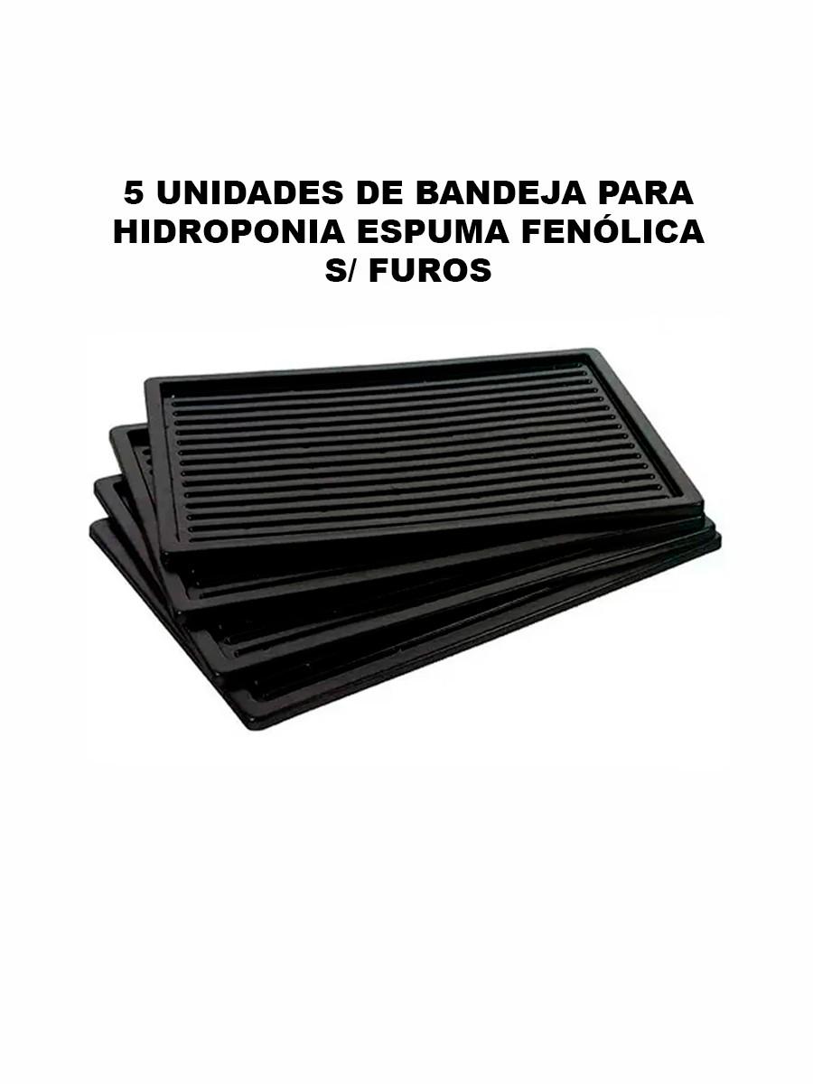 BANDEJA PARA HIDROPONIA ESPUMA FENÓLICA SEM FUROS - 5 UNIDADES