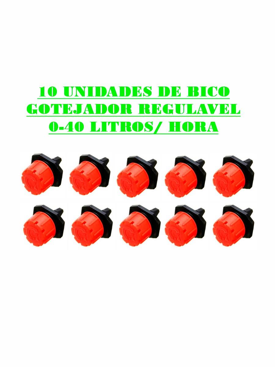 Bico Gotejador Regulavel 0-40 Litros/ Hora - (10UN)