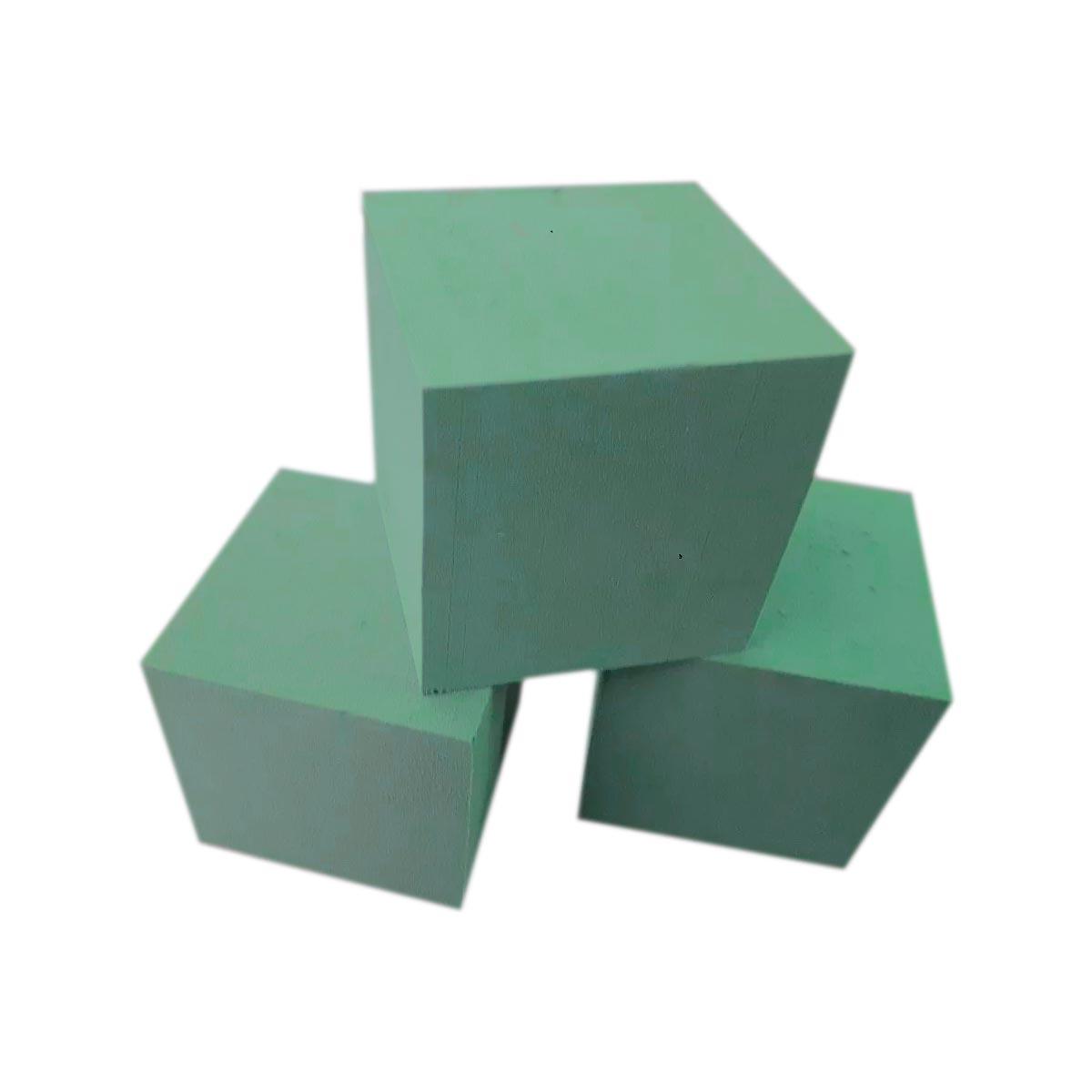 BLOCO ESPUMA FLORAL T2 15,0 x 15,0 x 15,0 cm - 12 UNIDADES