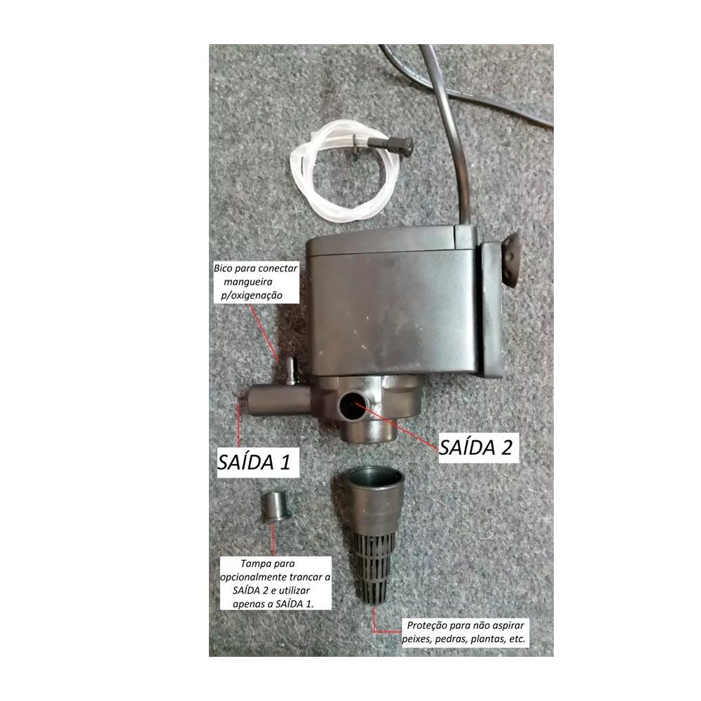 BOMBA SUBMERSA NS 801 - 1.200L/H - MINJIANG 220V