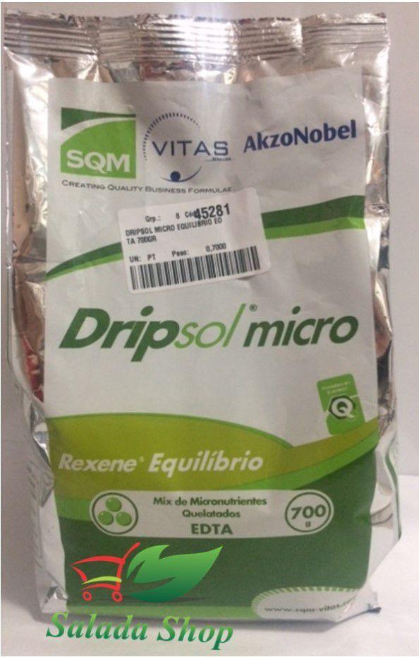 Dripsol Micro Rexene Equilíbrio - Mix de Micronutrientes Quelatados 700 gr