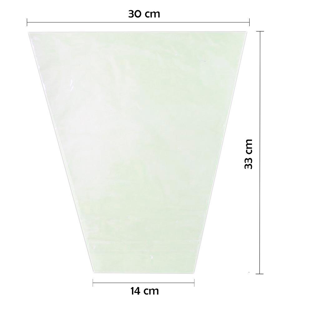 Embalagem Cônica P/ Alface Sem Impressão 14 x 30 x 33