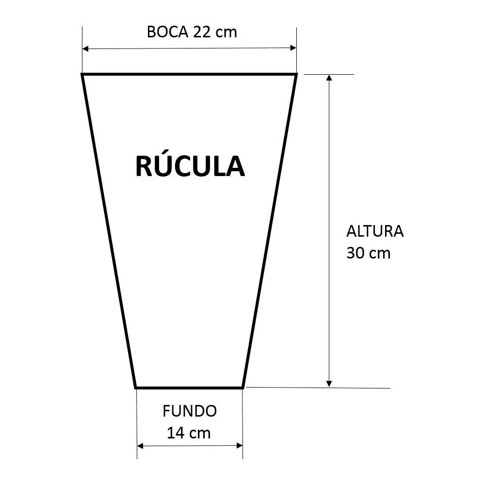 Embalagem Cônica Rúcula 14x22x30 1000 EMBALAGENS