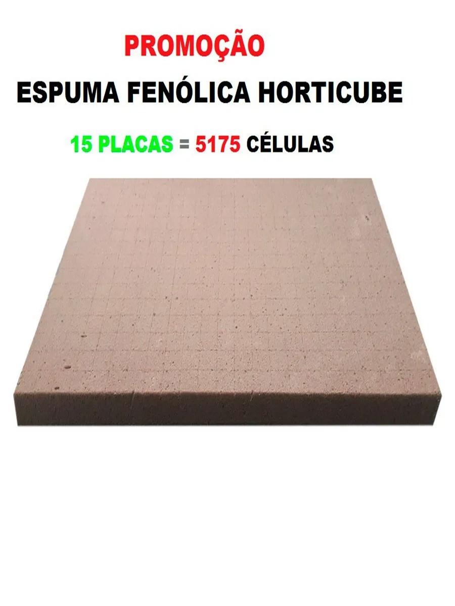 ESPUMA AGRÍCOLA HORTICUBE 2 X 2 X 2 cm SEM FURO - 15 PLACAS