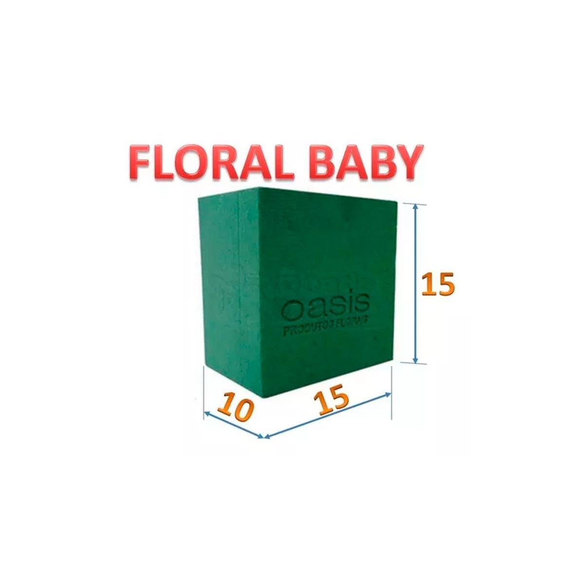 ESPUMA FLORAL BABY - CAIXA COM 18 UNIDADES
