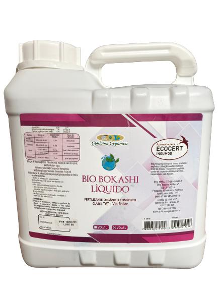 Fertilizante Orgânico Composto Classe A - Bio Bokashi - Líquido 5 Litros