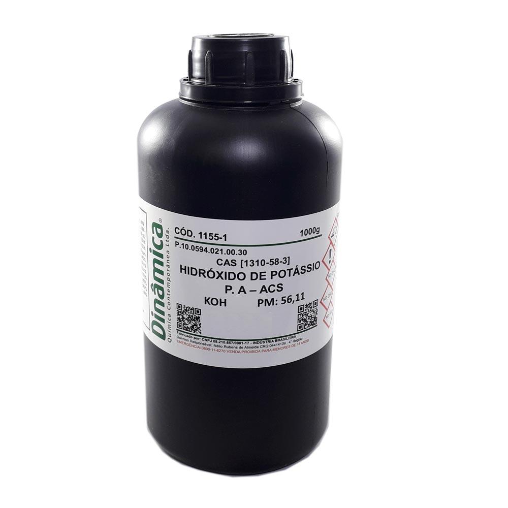 HIDROXIDO DE POTASSIO PA 1000GR - Granulado
